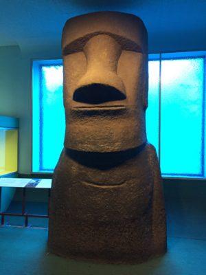 Staty från Påskön på Natural History museum i New York
