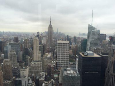 Utsikt från Rockefeller Center i New York, Top of the Rock. Åkte dit och till Frihetsgudinnan en dag.