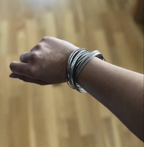 Armband i silver, bling
